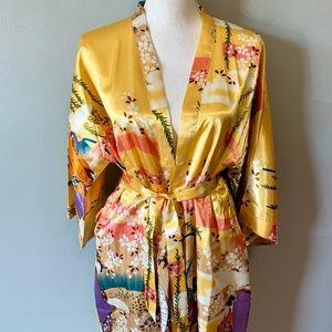 Other - Yellow Silk Kimono from Singapore